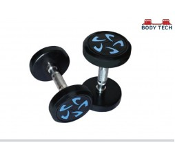 Body Tech 20kg Pair Of Pu Coated Flower Design Dumbbells
